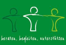 Logo von Beratend Begleiten mit drei symobilisierten Menschen, die sich die Hand geben